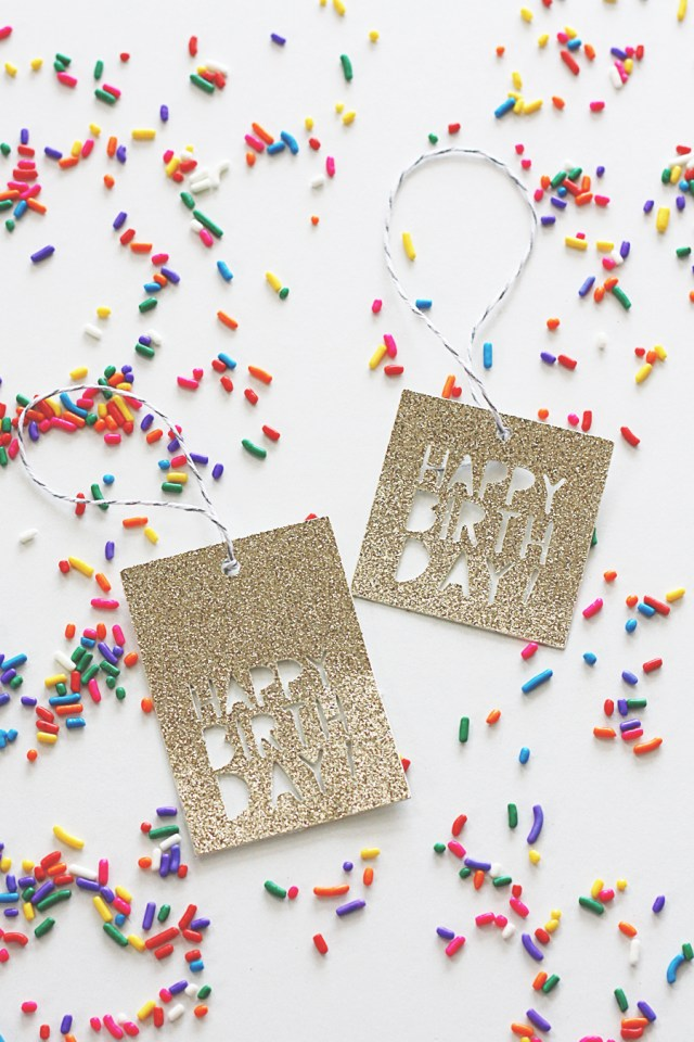 Cricut Birthday Tag