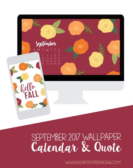September Wallpaper Calendar & Quote