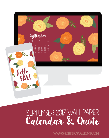 September Wallpaper Calendar & Quote