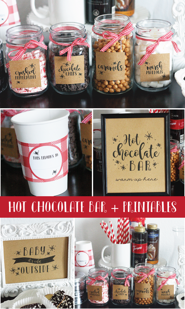 Hot Chocolate Bar + Printables