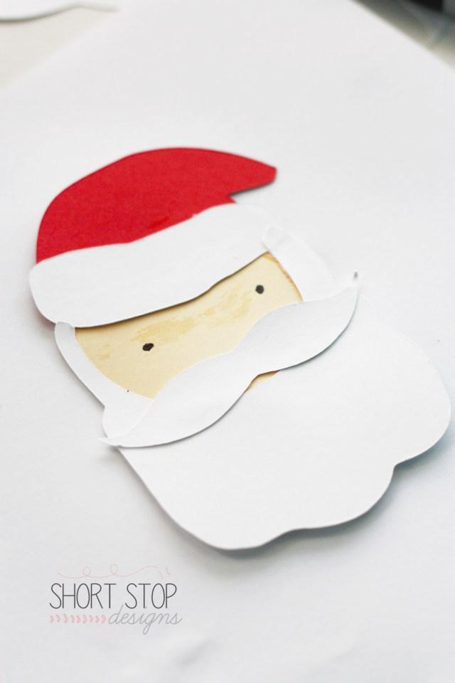 Gift Tag Santa