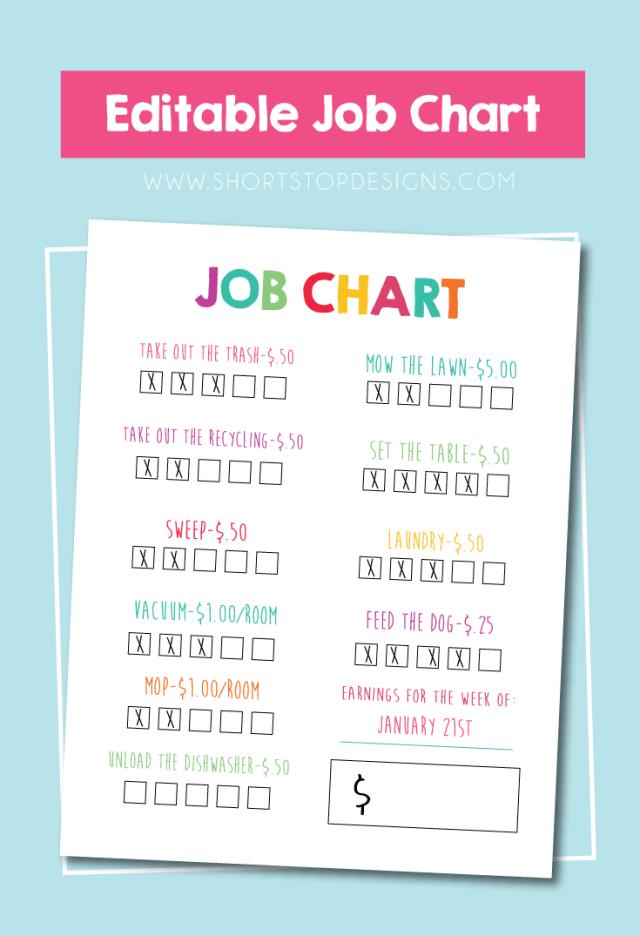 Editable-JOB-CHART
