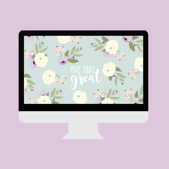 January Wallpaper + Printable