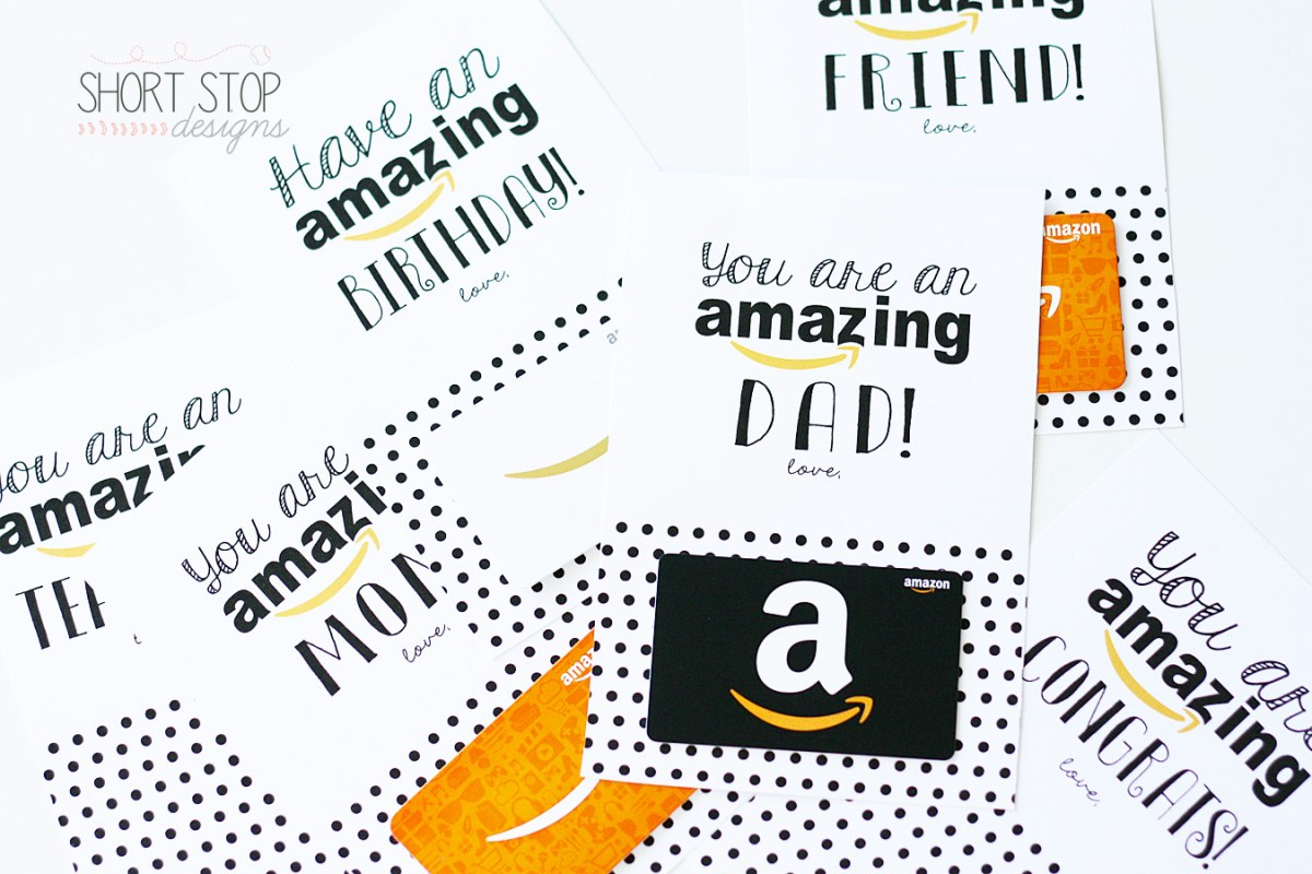 Amazon Gift Card Printables Short Stop Designs