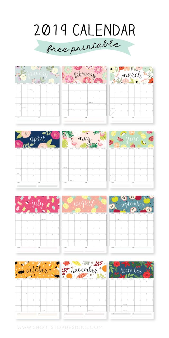 2019-Kalendarz do druku