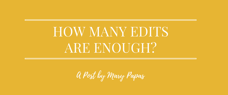 How Many Edits Are Enough?