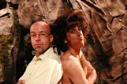 "On the set of YTV's ""Unlucky Caveman""."