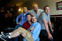 The Coincidence Men (L to R) are Kerry Griffin, Rob Hawke, Marcel St. Pierre, Gord Oxley and Ralph MacLeod.