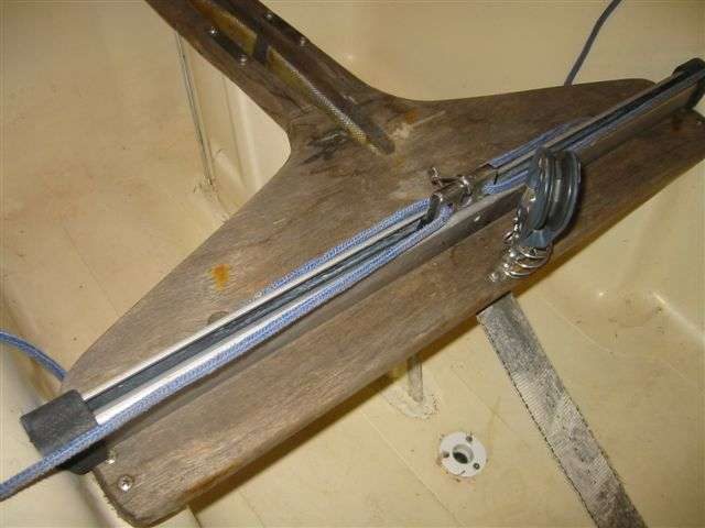 Fixing up daggerboard trunk Force 5 Sailboat