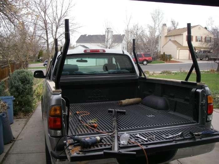 Stake Pocket Truck Rack For Carrying Kayaks