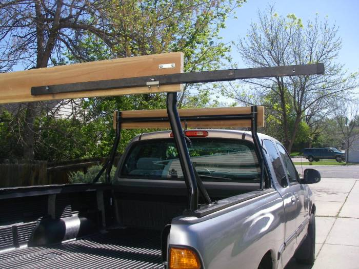 Stake Pocket Truck Rack For Carrying Kayaks 2