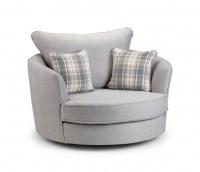Brilliant Round Swivel Chair Purple Leatherette Swivel ...