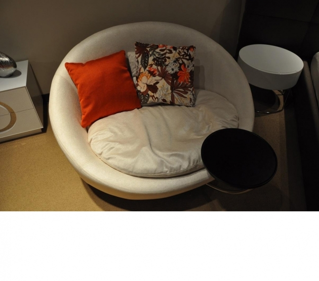 Inspiring Round Swivel Chair Divani Casa Alba Modern