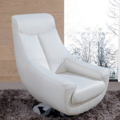 Bungee Office Chairs Accent Dining Lori White Leather Swivel Chair 75   Design