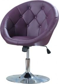 Coaster Swivel Chair Purple Contemporary Round Button ...