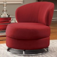 Coaster Swivel Chair Red Fabric Sofa Furniture Picture ...