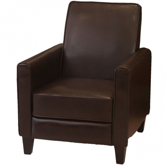 Aldrich Leather Recliner Club Chairs For Small Spaces