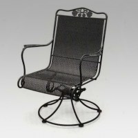 Metal High Back Swivel Rocker Patio Chairs Images 86 ...