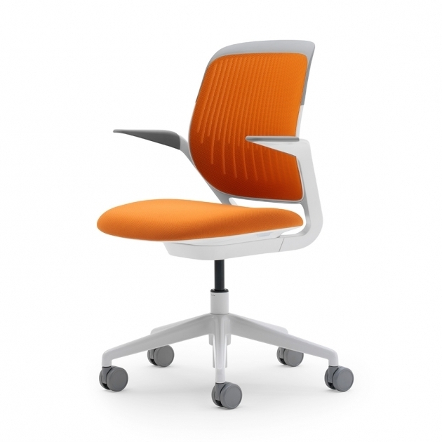 Orange Office Chair Cobi Desk Chair With White Frame