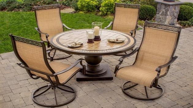 Outdoor Swivel Dining Chairs Ideas With Dining Table Fire