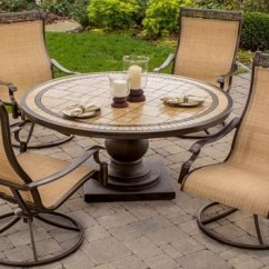 Patio Swivel Rocker Chairs Wheel Outdoor Dining Ideas With Table Fire Pit Round Metal And ...