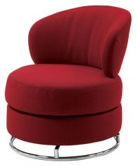 Red Fabric Coaster Swivel Chair Photo shoshuga 41 | Chair ...