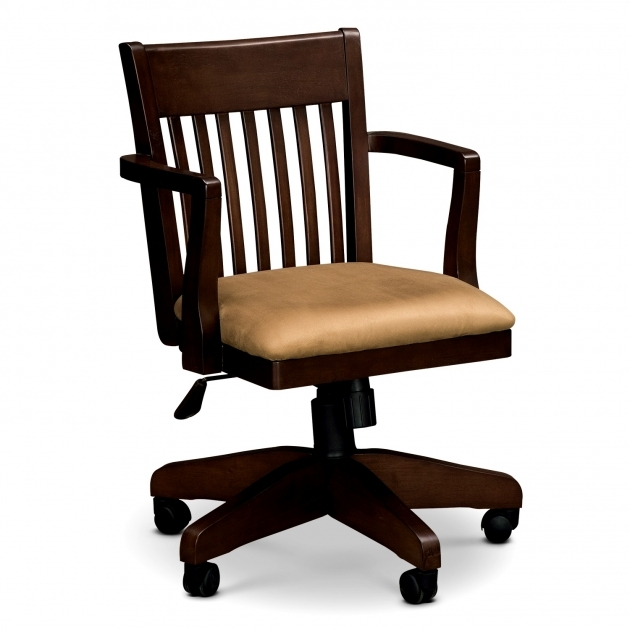 desk chair non rolling gym bench press wood office plans chairs casters for with wheels without arms design wooden swivel ...