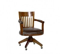 Wooden Swivel Desk Chair With Arms Photo 16 | Chair Design