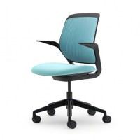 Aqua Office Chair Cobi Desk Chair With Black Frame ...