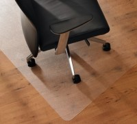 Rectangle Cream Fiber Large Office Chair Mat For Wood ...