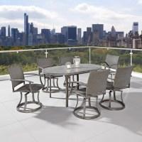 Cozy Urban Outdoor 7 Piece Patio Dining Set With Swivel ...