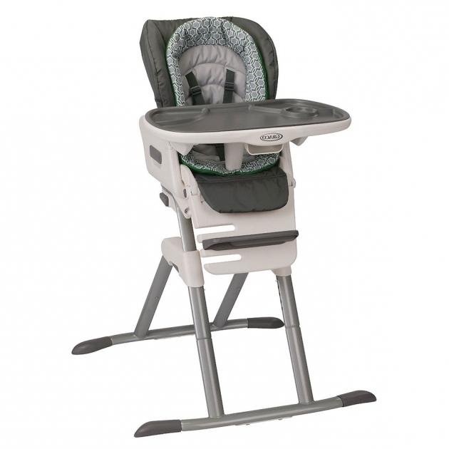 Graco Slim Spaces High Chair Go Green  graco slim spaces sp