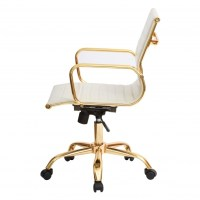 Cream Leather Desk Chair. Good With Cream Leather Desk ...