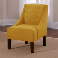 Yellow Swivel Accent Chair With Arms Living Room Furniture ...