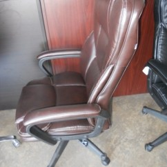 Realspace Fosner High Back Bonded Leather Chair Nightmare Before Christmas Executive Furniture Replacement Parts ...