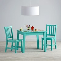 Turquoise Kitchen Chairs Square Play Table And 2 Play ...