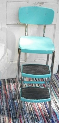 Turquoise Kitchen Chairs Step Stool Vintage Ideas Picture ...