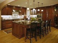 Wooden High Chairs For Kitchen Island With Modern Kitchen ...