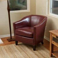 Black Round Leather Ottoman. Modern Black Bonded Leather ...