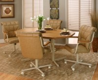 Swivel Dining Chair With Casters Cramco Kitchen Chairs
