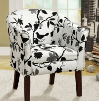 Black And White Patterned Club Chair Patio Chair Pads ...