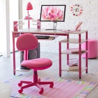 Cute Office Chairs Desk Design With Pink Of The Room ...