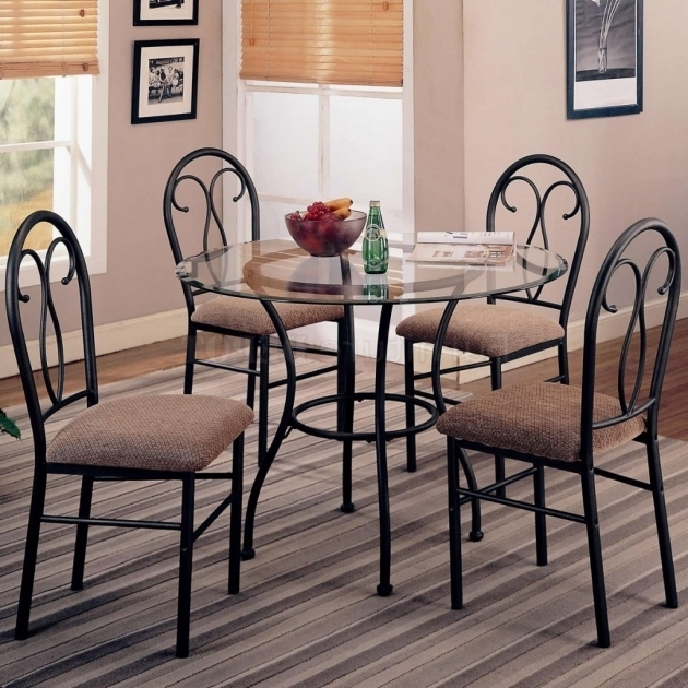 tall round kitchen table and chairs santa chair rental wrought iron chic small dining room design with glass photo 58 ...