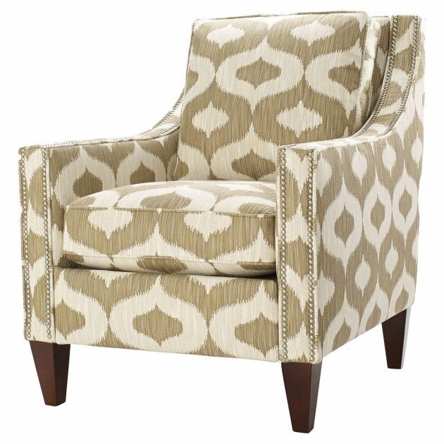 Yellow And Gray Accent Chair