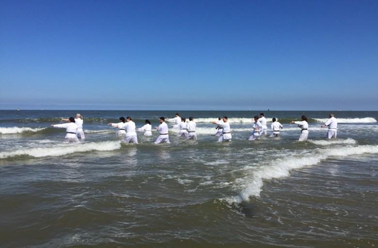 Beach karate training 2018 Den Haag