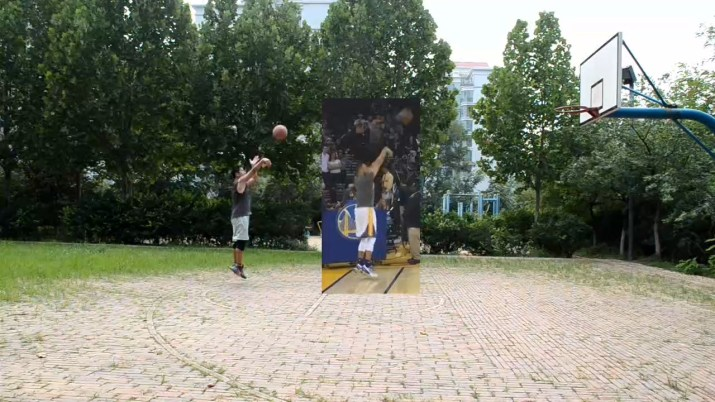 Basketball Shooting Training with Stephen Curry's Shooting Form - Test 1