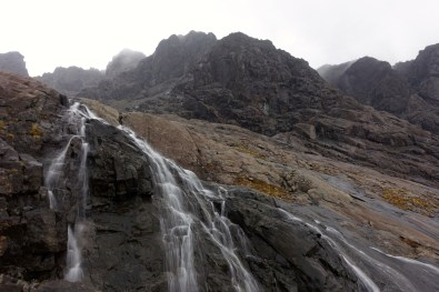 Waterfall below Coire Lagan