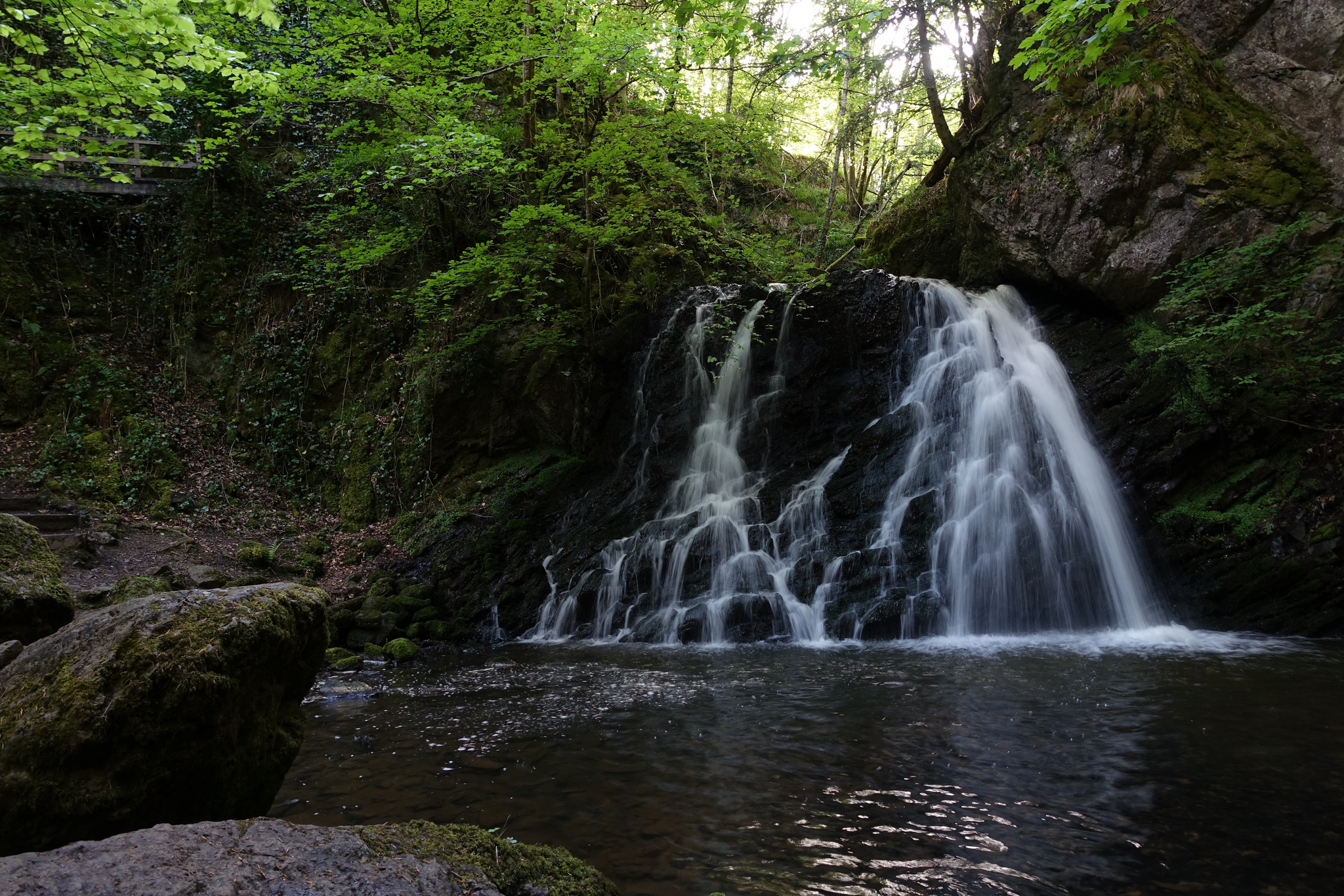 Waterfall and pool in the Fairy Glen at Rosemarkie