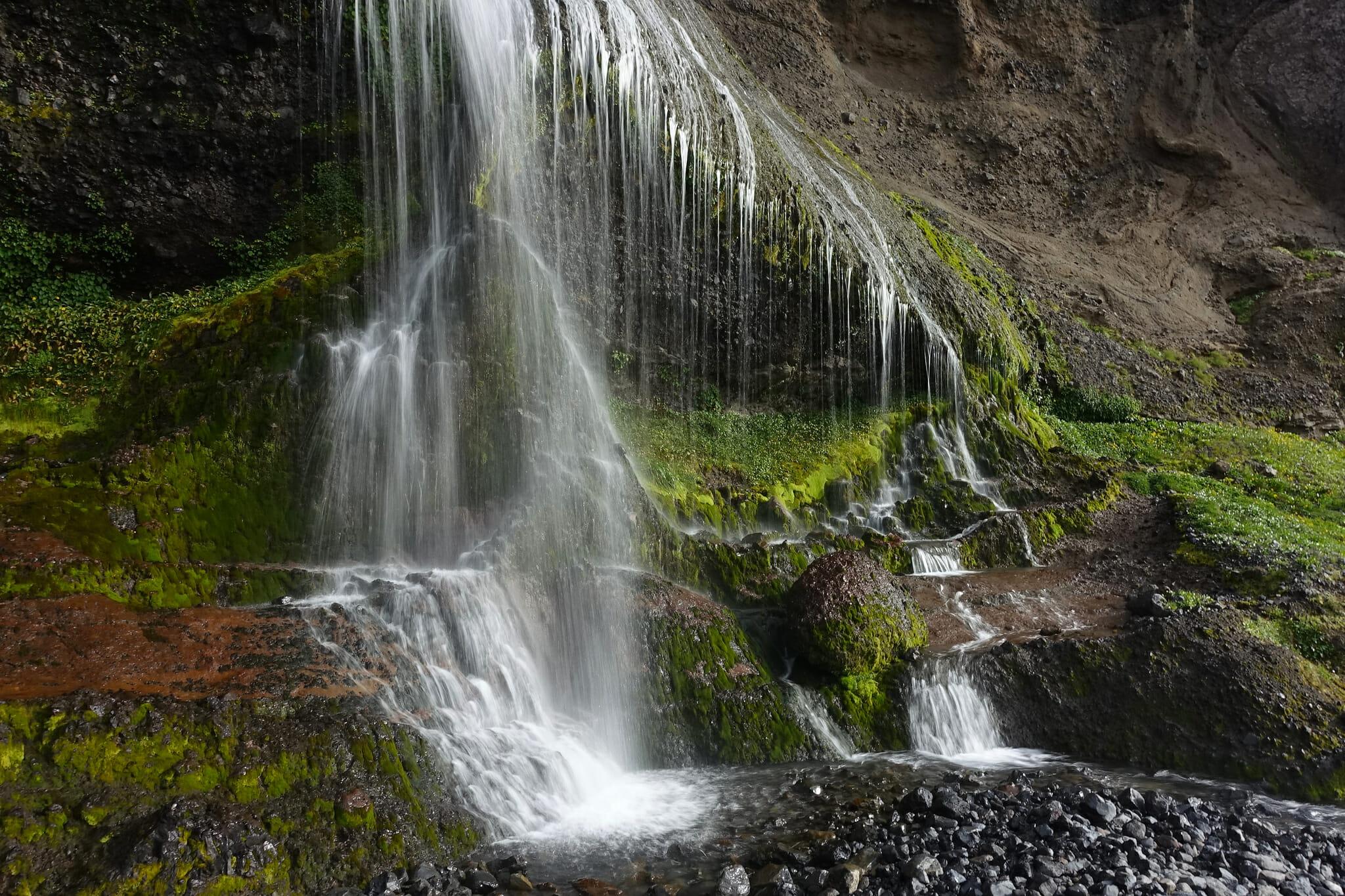 Waterfall above Paso de las Nubes