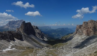 view from Passo Crespeina